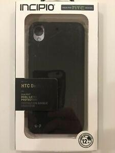 Incipio-DualPro-Protectora-Telefono-Cubierta-Estuche-Para-HTC-Desire-530-550-555-Negro