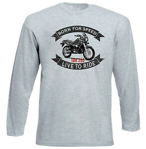 YAMAHA-TDR-250-NEW-GREY-LONG-SLEEVED-TSHIRT-ALL-SIZES-IN-STOCK
