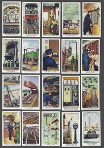 1938-Wills-039-s-Railway-Equipment-Tobacco-Cards-Complete-Set-of-50
