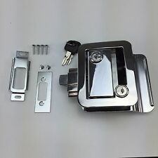 Set RV Paddle Entry Door Lock Latch Handle Knob Deadbolt NEW Camper Trailer Kit