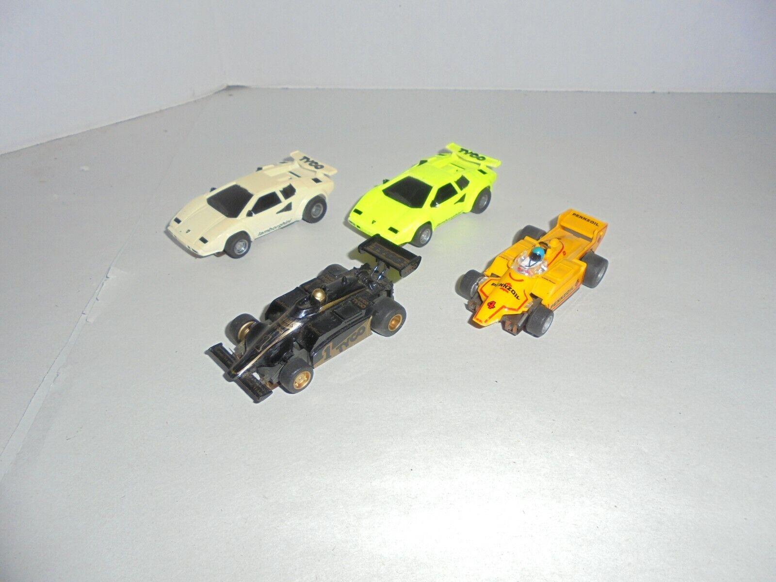 LOT OF 4 TYCO HO SLOT RACE CARS