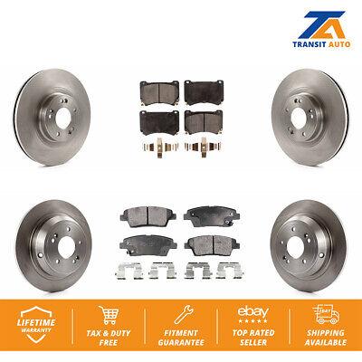 For 2009 2010 2011 2012 2013 2014 Hyundai Genesis Front Brake Rotors+Ceramic Pad