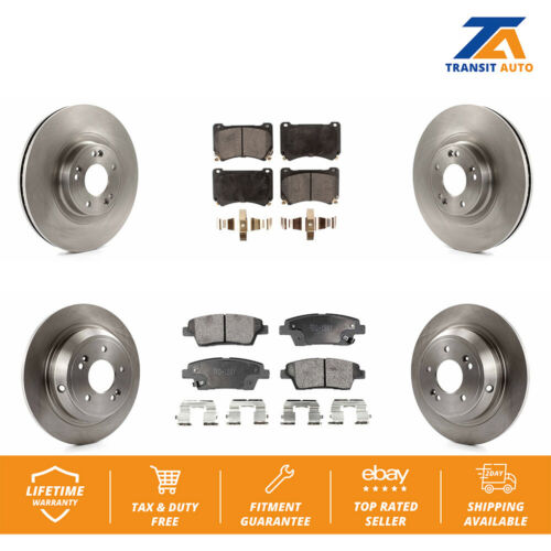 Front Rear Disc Brake Rotors And Ceramic Pads Kit For Hyundai Genesis