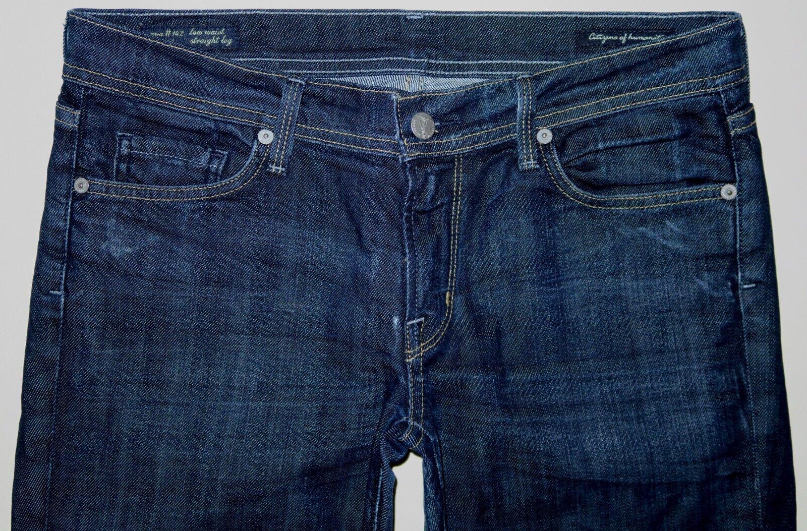 Citizens of Humanity Ava Dark bluee Straight Leg Jeans Size 30 X 29.5