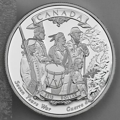2013 Proof Silver Dollar 250th Anniversary of the end of the Seven Years War