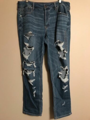 Sz 16r Misses Eagle 800226 Destroy Wash Tomgirl Medio American Jeans 14r Nwt XqCpC