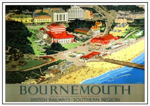 Bournemouth Travel Holiday Beautiful View Poster Resort Town England Picture