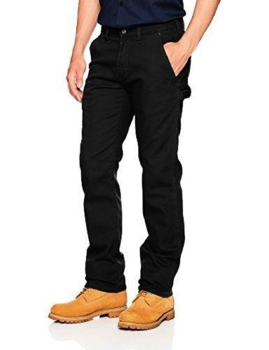Dickies Mens Black FLEX Regular Fit Tough Max™ Duck Carpenter Pants DP802SBK