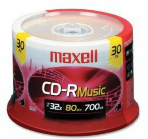 700mb// Maxell 625335 High-Sensitivity Recording Layer Recordable CD Audio Only