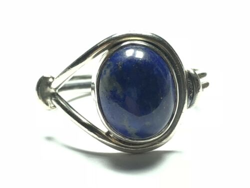 Vintage Ladies Sterling Silver Blue Lapis Ring - Take A Look! - Size 5.75