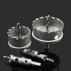 15mm - 100mm TCT Carbide Tip Hole Saw Metal Drill Bit Stainless Steel Cutter