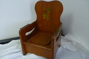 Image Is Loading Vintage SOLID WOOD COMBO HIGH CHAIR Amp POTTY