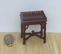 Dollhouse Miniature Ornate Victorian Chippendale Stype Hand Carved Side Table...