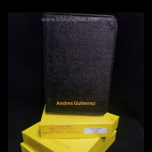 Biblia-Antigua-Version-Valera-1602-Tamano-Compacto-PIEL-PURA-Negro-Personalizada