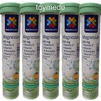 Multinorm Magnesium Brausetabletten +vitamin B,c+e 70 Stück Geschmack Orange