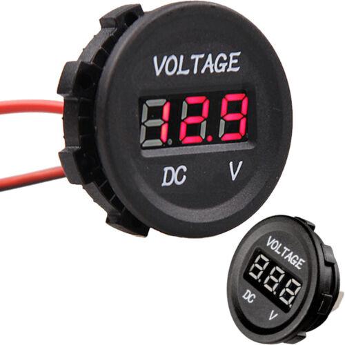 12V 24V Motorcycle Red LED Light Digital Display Voltmeter Meter Waterproof
