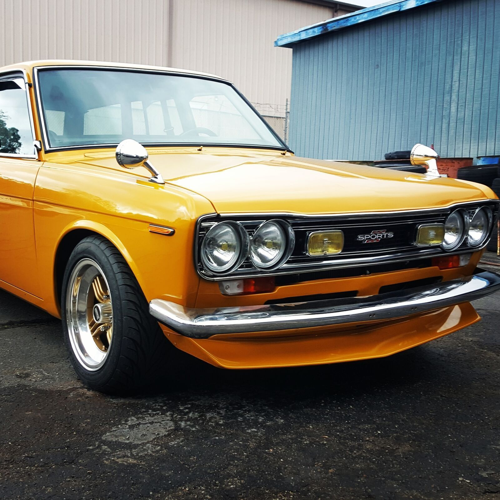 Jdm Fit For Datsun 510 Front Lip Spoiler Made From Sheet Metal For