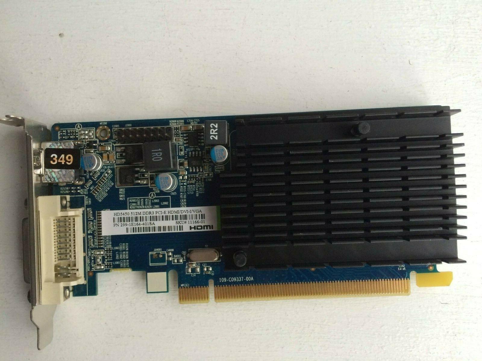 SAPPHIRE ATI RADEON HD5450 CEDAR 512 MB HDMI/DVI PCI-EX16