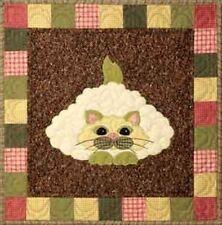 Caulipus, Helene Knott NEW GARDEN PATCH CATS QUILT BLOCK StoryQuilts.com