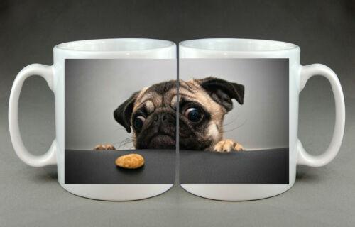 Pug Biscuit Pet Dog Mug Gift Birthday Present Doggy Cute Coffee Cookie