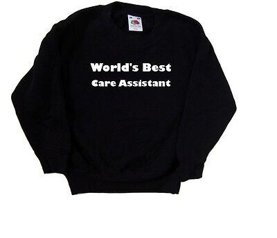 100% Vero World's Best Care Assistente Kids Felpa-mostra Il Titolo Originale Con Le Attrezzature E Le Tecniche Più Aggiornate