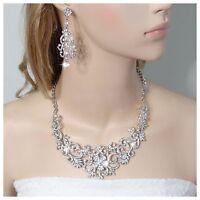 Wedding Jewellery Austrian High Quality Crystal Bridal Necklace Earring Set Box