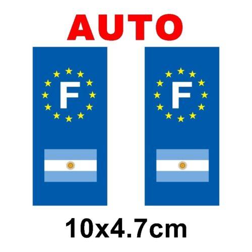 Autocollant plaque immatriculation auto drapeau argentine
