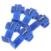 50X Blue Scotch Lock Wire Electrical Cable Connector Quick Splice Terminal Crimp