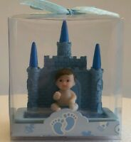Blue Castle Baby Shower Birthday Cake Topper Party Decoration Favor Figurine