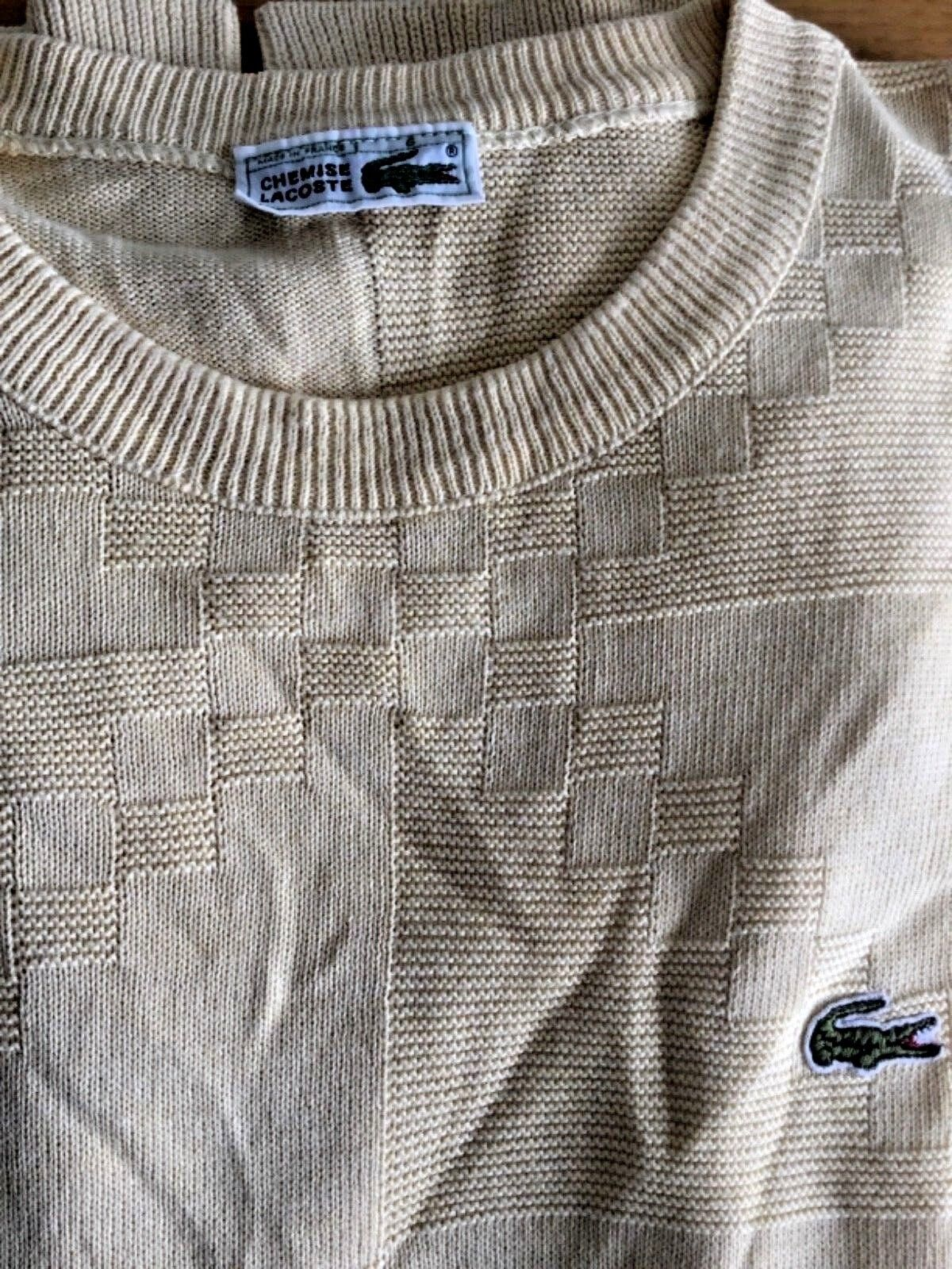 MAGLIA LACOSTE CHEMISE DEVANLAY JUMPER SWEATER SIZE M MADE IN FRANCE
