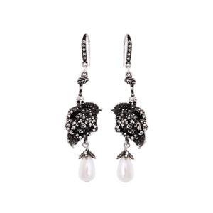 Boucles d/'Oreilles Chandlier Rose Pale Mini Perle Original Soirée Cadeau CC 4