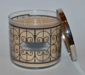 BATH-amp-BODY-WORKS-CREME-CARAMEL-SCENTED-CANDLE-3-WICK-14-5-OZ-LARGE-DECORATIVE