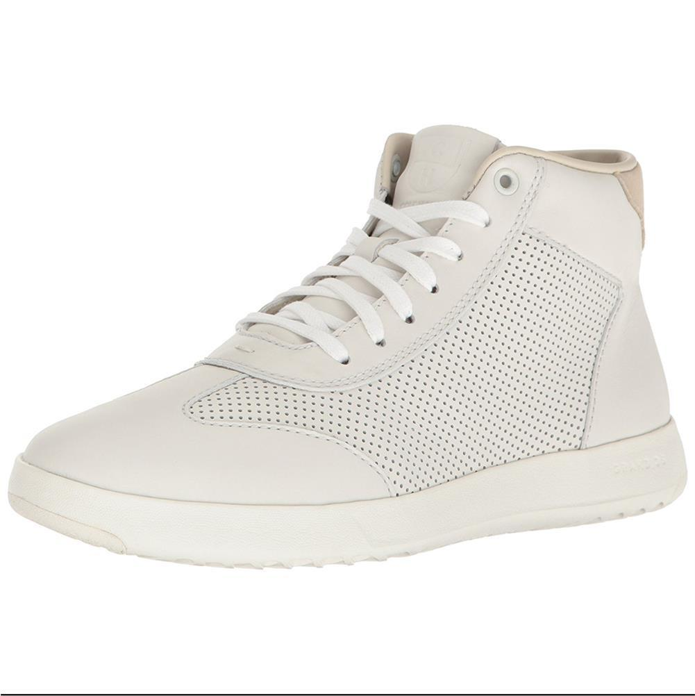 Cole Haan Damens Grandpro High Top Sneakers WEISS Leder Lace Up NEW Casual