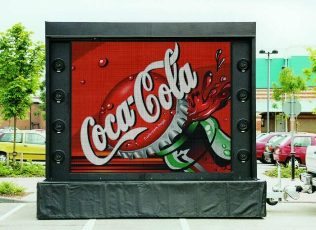 Mobile Outdoor LED Screen ideal for Shows, Events and Promotional Marketing