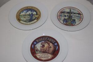 Image is loading Restoration-Hardware-French-Cheese-Plates-Set-of-3 & Restoration Hardware French Cheese Plates ~ Set of 3 | eBay