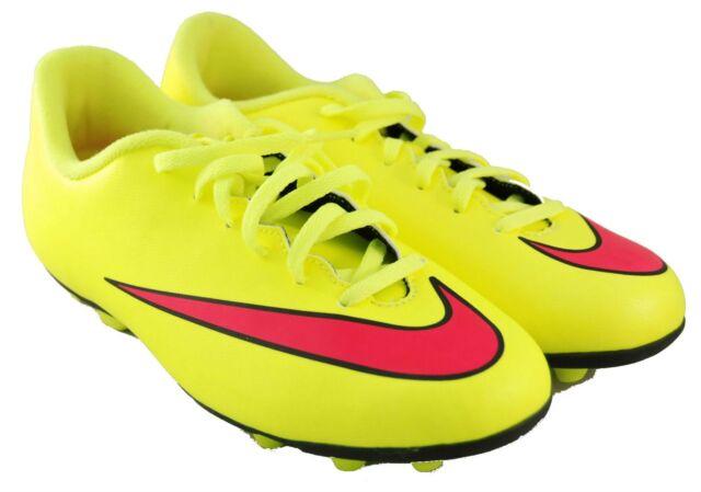 2036001c47fc Nike Mercurial Vortex Yellow Pink Soccer Cleats 651642-760 Girls Sz ...