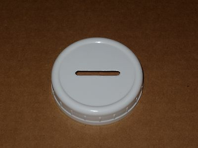 Plastic Slotted Coin Bank Lid For Mason Jar - Standard Size.