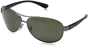 173f252abf RAYBAN Rb3386 Sunglasses 004/9a Gunmetal Green Polarized Size 67 for ...
