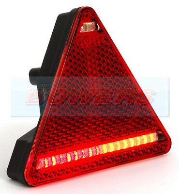 WAS W68P 12V 24V UNIVERSAL LED TRIANGLE REAR COMBINATION LIGHT LAMP TRAILER R/H