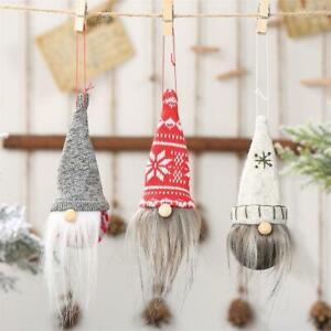 Weihnachten Schwedisch Gnome Santa Puppe Ornamente Neue Hängen Baum U5L2