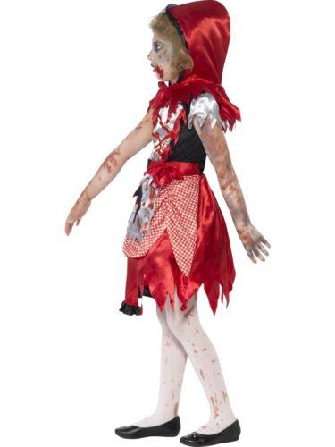 Girls Zombie Little Red Riding Hood Costume Child Halloween Fancy Dress New