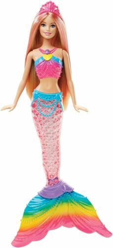Si Attiva Sott/'Acqua Luci Colorate Barbie Sirena Arcobaleno con Capelli Biondi