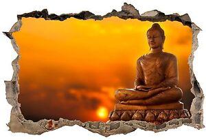 Stickers-3D-Trompe-l-039-oeil-Bouddha-ref-23765-23765-Art-deco-Stickers