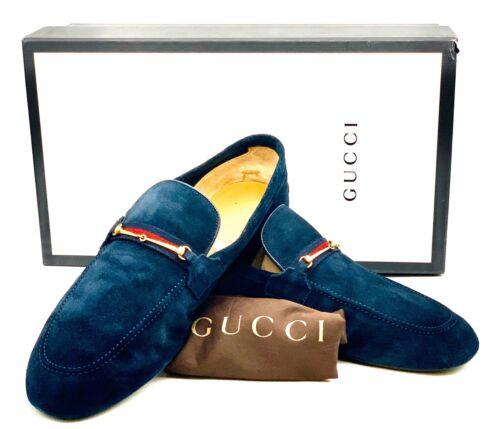 Gucci Men Loafers Blue UK 9 1/2