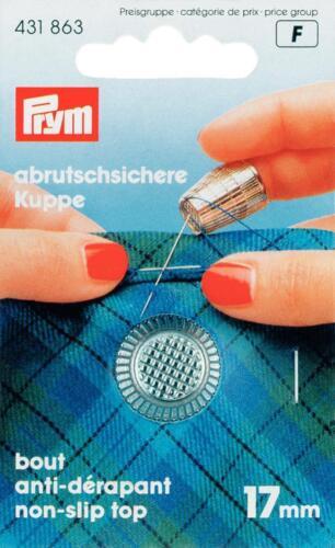 PRYM Fingerhut 17mm Zinkdruckguss chromatiert; mit Anti-Rutsch-Kante 431863
