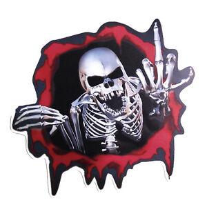 Skelett-Aufkleber-Loch-Stinkefinger-Auto-Motorrad-Finger-Fuck-Totenkopf-Sticker
