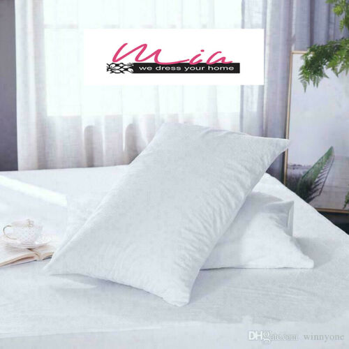 2X Pillows Terry Toweling Pillow Cases Fine Poly Cotton Housewife Pair Pack