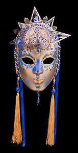 Maschera Di Venezia Luna E Sole Carta Pesta E Métal-ht Di Gamma- 2139 -GAR9