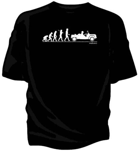 Evolution of Man Citroen Mehari classic car t-shirt