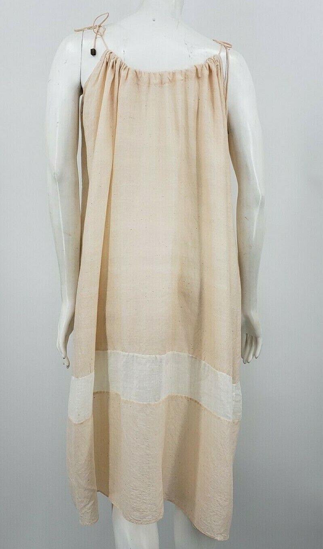 Pondicherie Sita Tie Dress One Size Blush Silk Or… - image 4